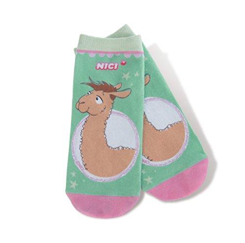 NICI 42256 La Lounge Socken Dalia und Lama Luis, 26-36, beige/braun, Größe