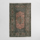 Blush Persian Medallion Print Woven Jute Puri Area Rug | World Market