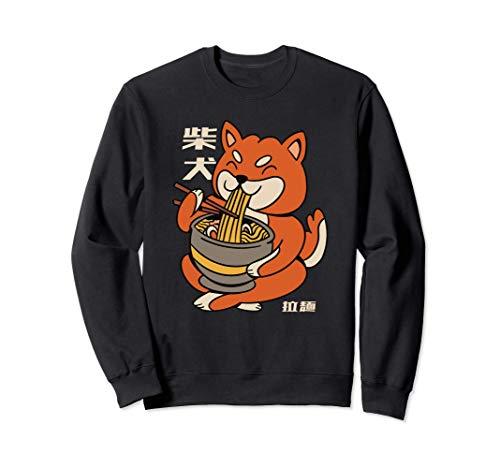 Shiba Inu Hund Ramen Hunde Futter Tiere Tier Sweatshirt
