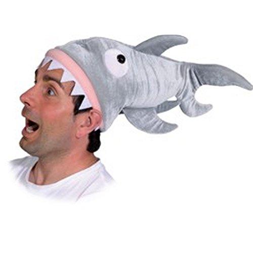 Amakando originelle Tiermütze Fischmütze Hut Hai-Angriff Kopfbedeckung Hai Plüschmütze Shark Haimütze