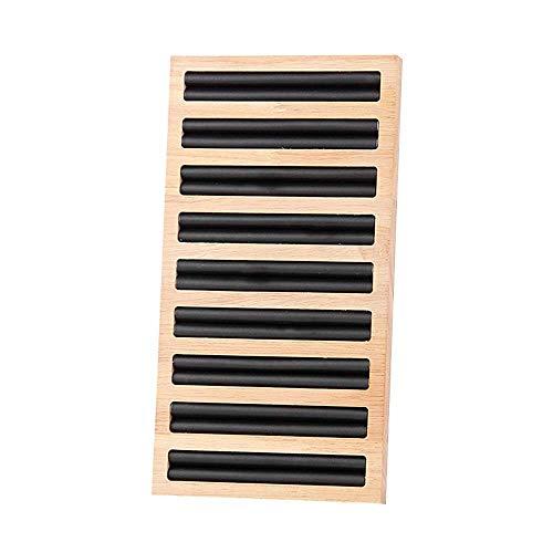 XJF 1 caja de almacenamiento cuadrada para joyas, anillos de madera, soporte para pendientes, bandeja organizadora