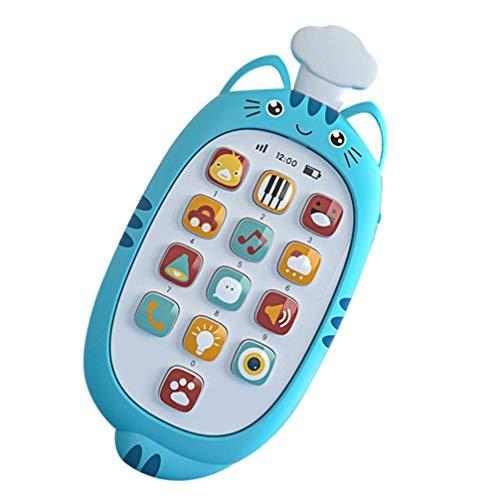 Siamrose Juguete del teléfono del bebé para el aprendizaje del juego educación temprana teléfono mordedor música aprendizaje juguete para niños pequeños LTLNB