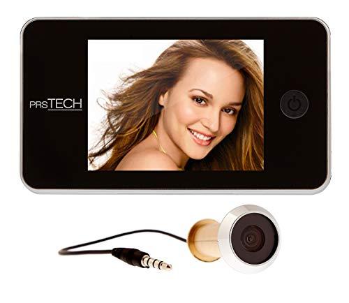 prsTECH® DoorCAM DC2 Digitaler Türspion, 3,5 Zoll LCD Display für Türstärken von 38-110mm