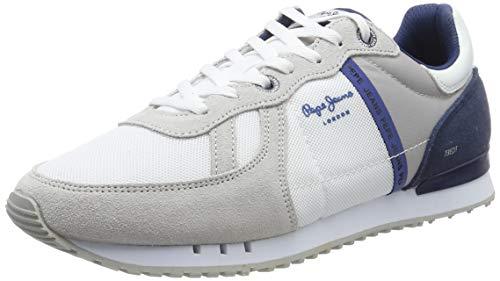Pepe Jeans Tinker Zero Seal, Zapatillas para Hombre, Blanco (800WHITE 800), 43 EU