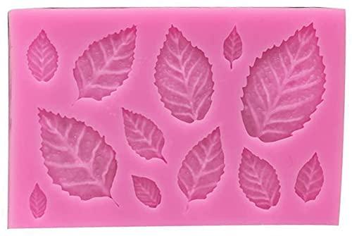 Ghlevo Molde de Hoja de Silicona, moldes de Dulces y Chocolate, Accesorio de Pastel Lavable Lavable Lavable Duradero para Cocina (Color : A, Size : B)