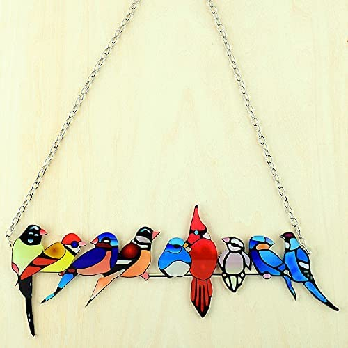 bytecobyte Stained Glass Birds Window Selling Ranking TOP13 Modern Handmade Hangings A