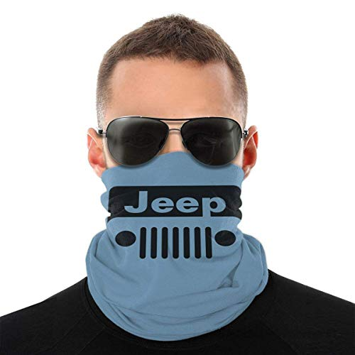 Perilla Fire Jeep Wrangler - Pasamontañas con logo de protección UV para el cuello, pasamontañas