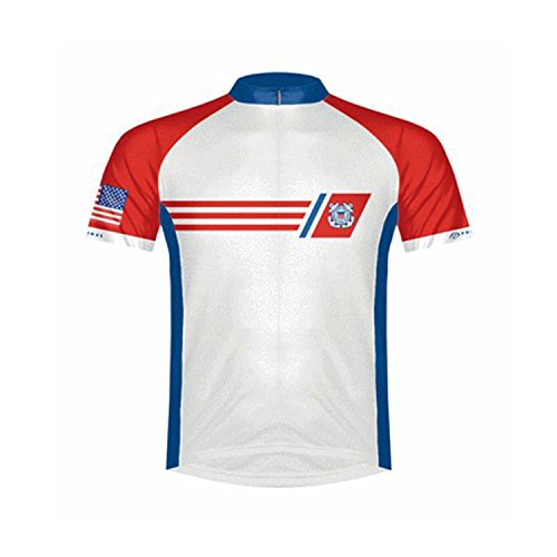 Primal Wear Herren USA Coast Guard Vintage Trikot Small rot