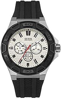 ساعة جيس الرياضية للرجال، هيكل من الستانلس ستيل، مينا بيضاء، انالوج -W0674G3