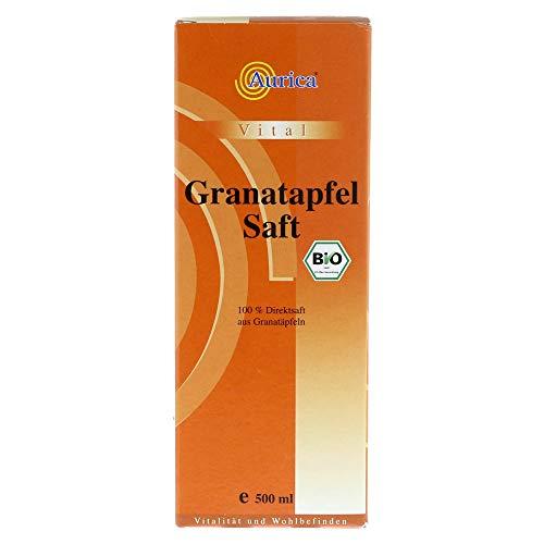 Aurica Granatapfel 100{257e4a0a277e9dce86ccffe7c16c5f0a82418682952745a0baf63b526a3895d4} Bio Direktsaft, 500 ml