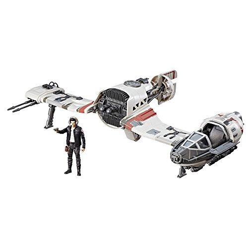 Hasbro, Star Wars C1251EU4-Episodio 8; Set da Gioco Forcelink Ski Speeder con Figura di Poe Dameron da 9,5 cm