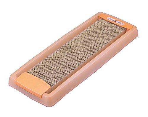 アイリスオーヤマ ダストレス ネコの爪とぎスリム オレンジ CTS-540