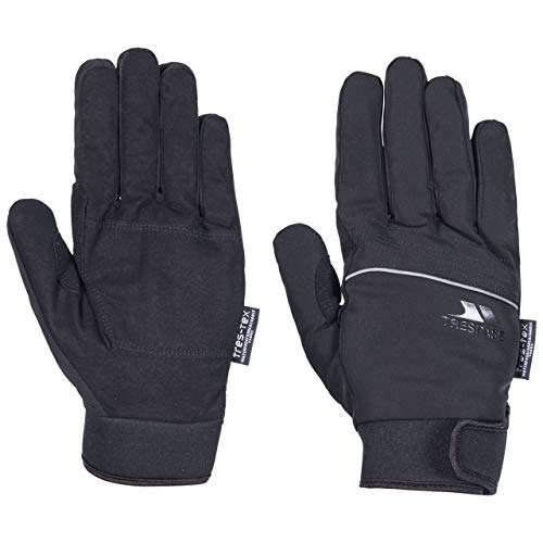 Trespass - Guantes de invierno impermeables Modelo Cruzado para hombre Caballero (L) (Negro)