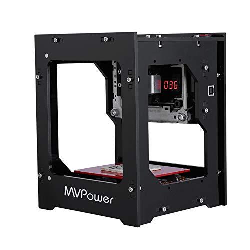 MVPOWER Máquina de Grabado Láser 1500mW Filtro Acrílico con Sujeción Magnética Mini DIY Grabador Windows/iOS/Android/Bluetooth