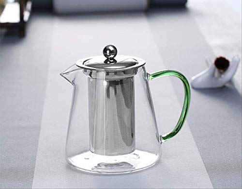 Hittebestendige glazen vloerkleed, 550 ml, met filter, Tea Pot Can be Heated Directly on Fire Strainer Heat Coffee Pot Kettle