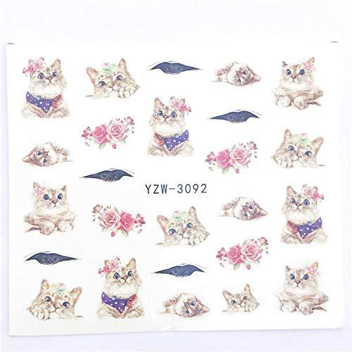 MEIYY Autocollant D'ongle Designs 1 Feuille Vintage Collier Gris Noble Designs Pour Nail Art Filigrane Décorations De Tatouage Nail Sticker