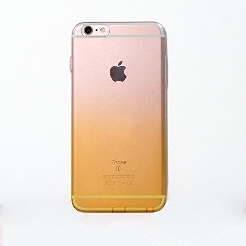 Dfifan Iphone 6, motivo conchiglia trasparente Slim antiurto trasparente, custodia flessibile in TPU a conchiglia trasparente che cambia colore, Lanveni-Custodia per Apple Iphone/6s 11,94 cm (4,7'): Arancione trasparente