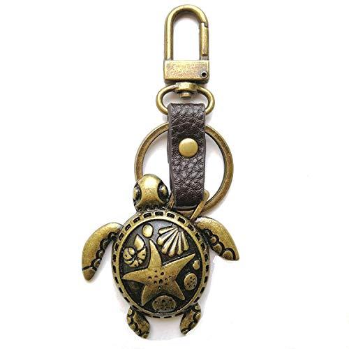 Chala Bronze Color Metal- Purse Charm, Key Fob, keychain (Sea Turtle)