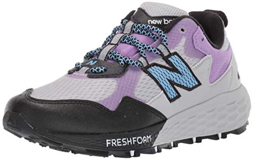 New Balance Women's Fresh Foam Crag Trail V2 Sneaker, Light Aluminum/Black/Team Carolina, 10.5 W US