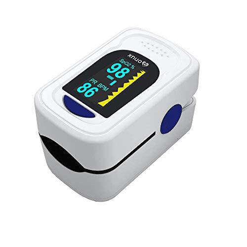 Pulsioxímetro de Dedo, Pulsioximetría Profesional para Adultos y niños, Medidor Saturacion Oxigeno...