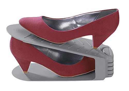 Wenko Schuhstaplerset 8-Delige Set Schuhhalter Schuhstapler Schuhregal Schuhschrank X8 St. Schuhe Organizer