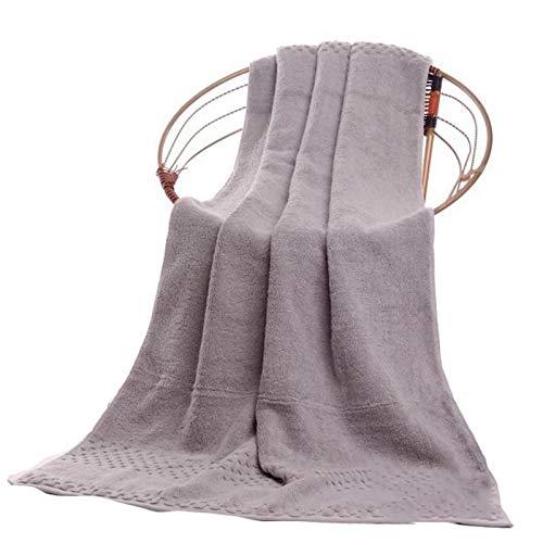 Tauzveok Toalla de baño Absorbente Toalla de baño Suave Microfibra en Ultra Suave algodón y baño Absorbente y SPA (dimensión: 70 * 140 cm / 90 * 180 cm),Gris,70 * 140cm