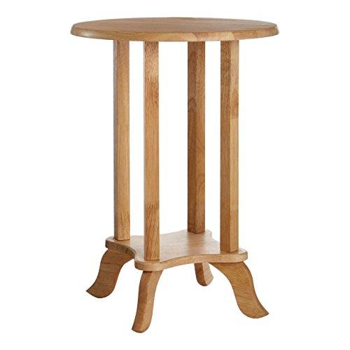 Premier Housewares 2402246 bord, gummiträd (Hevea), natur, litet