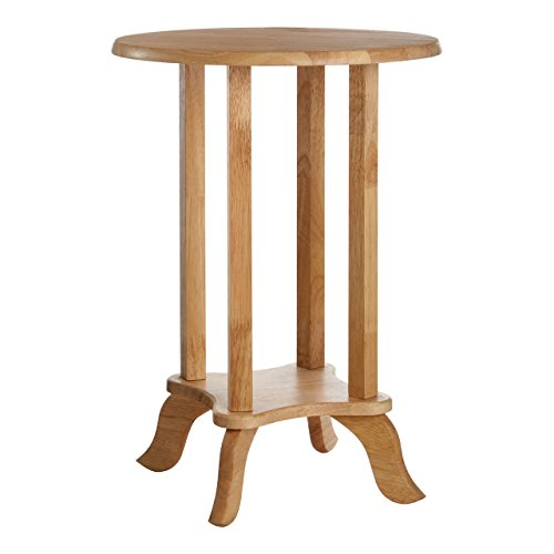 Premier Housewares Small Side Table Wooden Table Telephone Tables Living Room Corner Table Round Side Table 37 cm and height 54 cm