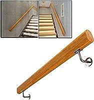 シンプルさ 松 階段 手すり、 固体 木材 安全性 滑り止め 手すり、 プロフェッショナル 階段 ガードレール にとって アウトドア 屋内,7ft/210cm