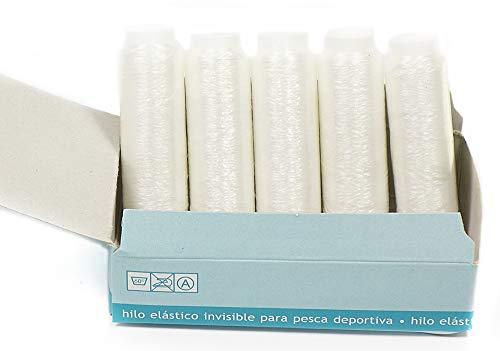 Matsa Extra Cebo de Alta Resistencia, Hilo De Pesca Elástico(0,1Mm) (Contine 2 Cajas), Unisex Adulto, Transparente, 2000 m