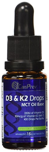 CanPrev D3 and K2 Drops, 15-Milliliter