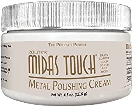Rolite - MTMPC45z Midas Touch Metal Polishing Cream - Cleaner and Polishing Rouge for Sterling Silver, Gold, Brass, Chrome, Copper, and Other Metals, Non-Toxic Formula, 4.5 Ounces, 1 Pack