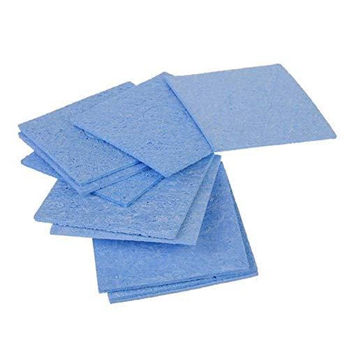 YBB-YB YankimX - Juego de 10 esponjas de limpieza para soldadura (60 x 60 mm), color azul