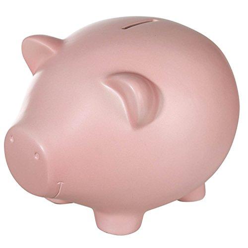 Hucha de Cerámica, Diseño de Cerdo Cerdo Cerdito Jumbo Tamaño Extra Grande XXL