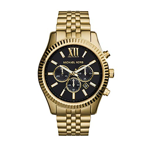 Michael Kors Men's Lexington Gold-Tone Watch MK8286