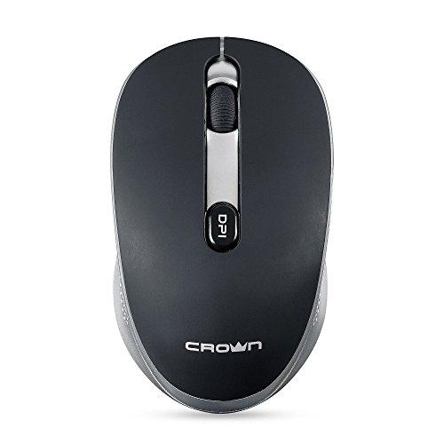 Crown Micro CMM-11W optische 4D Maus, Kabellos, schwarz