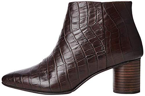 find. Leather Round Heel Point botines, Marron Brown Croc Effect), 37 EU