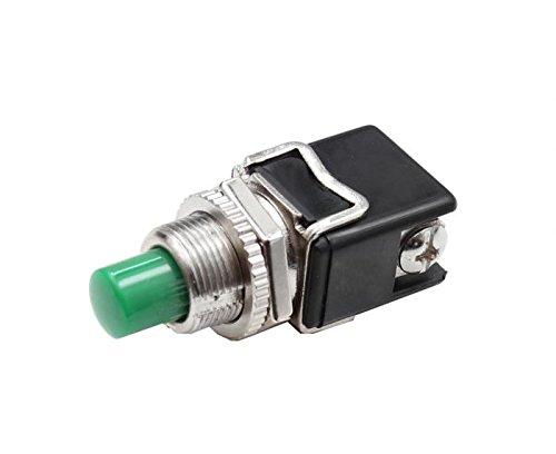 Hochstrom KFZ Drucktaster Grün 12A Druckknopf Taster Schalter Anlasser Hupe … (Grün)