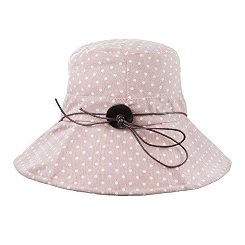 FakeFace Damen Hut Kappe Sonnenhut aus Baumwolle Sonnenschutz Strandhut Verstelltbare Hüte Kappe Anti-UV Dunkelblau