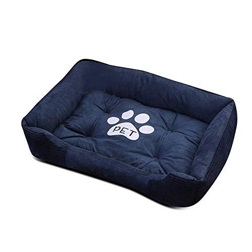 PETCUTE Cama Perro Pequeños Medio Grandes Cama para Mascotas Lavable Perro Sofá Suave Cesta Perros con Almohada pequeña XXL-90×70×15CM
