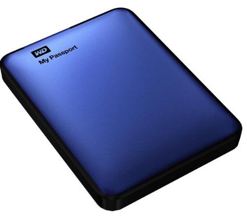 WESTERN DIGITAL - Disco duro externo portátil My Passport 1 TB – Azul USB 3.0, no necesita fuente de alimentación independiente + 3 años de garantía