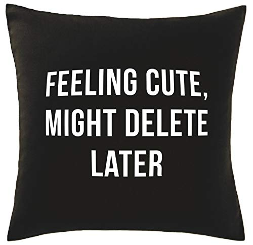 Hippowarehouse Feeling cute, might delete later Printed bedroom accessory cushion cover case 41x41cm