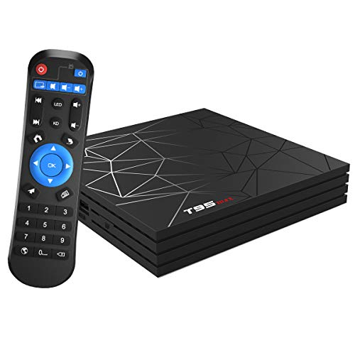 Android TV Box, T95 MAX Android 9.0 TV Box 4GB RAM/64GB ROM H6 Quad-Core Support 2.4GHz WiFi 6K HDMI DLNA 3D Smart TV Box