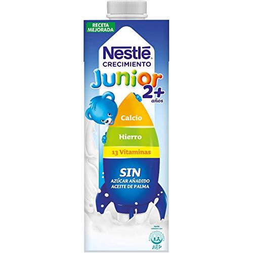 Nestlé Junior 2+ Original - Leche para niños a partir de 2 años - 6x1L, sin azúcar añadido ni aceite de palma