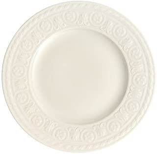 Cellini Salad Plate Set of 6 by Villeroy & Boch - Premium Porcelain - Made in Germany - Dishwasher and Microwave Safe - Elegant Engraved Detail - 8.5 Inches - Serves 6