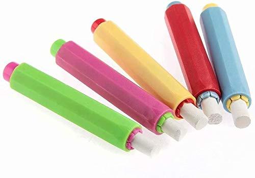XiZiMi 10X Chalk Holder Case Cover for Plastic School Reemplazo ajustable Chalk Cover 10pcs