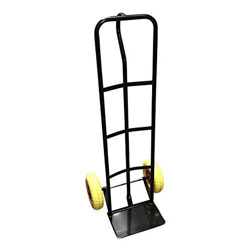 G-Rack T1Black Carro Industrial Resistente de Acero – Comneumáticos Antipinchazos y Capacidad de Carga 325 Kg, Negro
