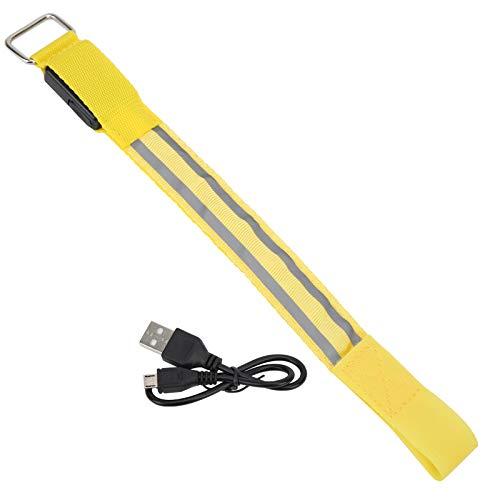 Haowecib Brazalete LED, Brazalete Ajustable Banda Luminosa Brazalete Reflectante para Envolver el Brazo LED para Deportes nocturnos al Aire Libre para Ciclismo para Trotar para Caminar