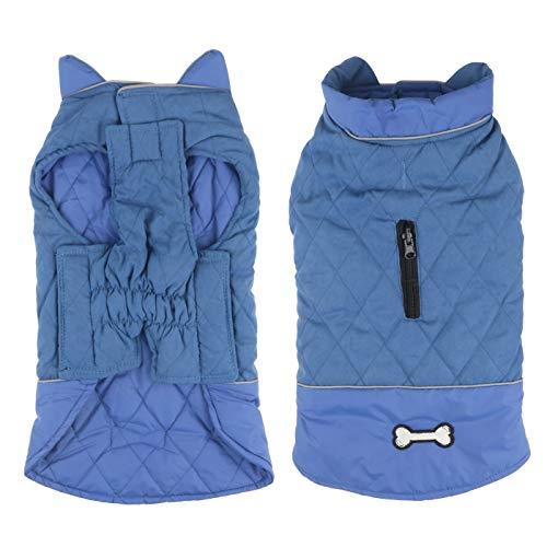 Idepet Wasserdichter Hundemantel für den Winter, Warme Jacke, Winddicht, Schneeanzug für kleine und mittelgroße Hunde mit Gurtloch