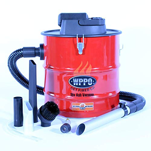 Cordless Fire Ash Vacuum Rechargeable, Battery Powered for Fireplace,...